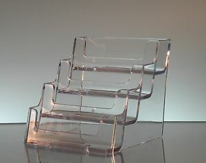 Clear Acrylic 4 Pocket Business Card Display Holder Displays Wholesale Lot Of 54