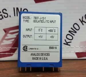 Analog Devices Model 7b37 j 12 1 Isolated Type J Thermocouple Input