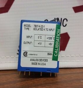 Analog Devices Model 7b37 k 22 1 Isolated Type K Thermocouple Input