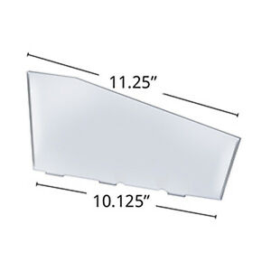 Count Of 12 New Retails Clear Crystal Styrene Plastic Divider 11 25 X 10 125