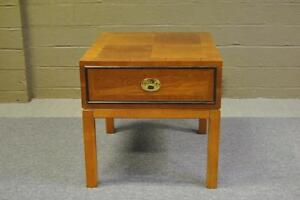 Nightstand By Hickory White Asian Style Influence With Banded Inlay Top