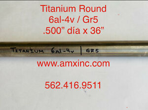 Titanium Round Bar 6al 4v 500 Dia X 36 Long