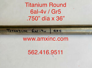 Titanium Round Bar 6al 4v 750 Dia X 36 Long