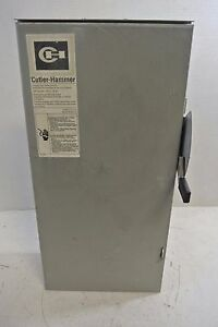 Cutler Hammer 100 Amp 240 Volt 3r Fusibe Disconnect Switch Cat Dg223nrb