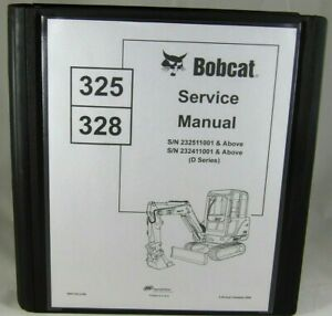Bobcat 325 328 D Compact Excavator Service Manual Shop Repair Book 6901138
