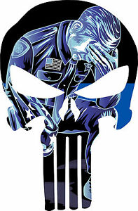 Thin Blue Line Decal Kneeling Police Decal Graphic Various Sizes Free Shipping