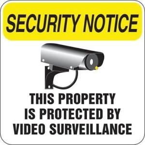 Protected By Video Surveillance Sign Non reflective 18 X 18