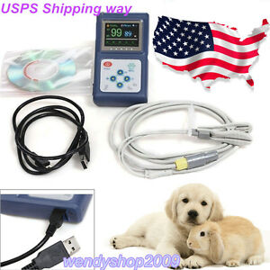 Us Seller Veterinary Handheld Cms60d Pulse Oximeter tongue Spo2 Probe software