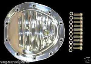 Polished Aluminum Differential Front Cover Gm 10 Bolt Truck 4x4 Chevy Gmc Gm 8 5