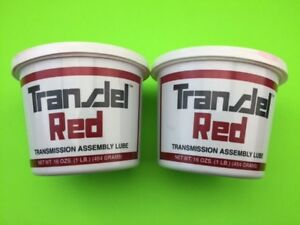 Two 16 Oz Tubs Of Red Transjel Transmission Assembly Lube