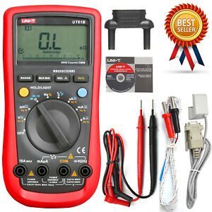 Uni t Ut61b Modern Auto Power Off Lcd Backlight Ac Dc Voltage Frequency Multimet