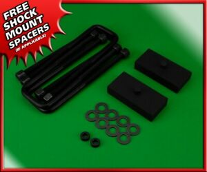 Rear Lift Kit 1 Steel Blocks W U bolts For 2004 2020 Nissan Titan 4wd 2wd
