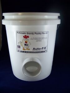 no Waste Automatic Chicken Hanging Gravity Feeder 5 Gallon Made In Usa
