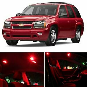 17x Interior Car Led Package Red Light Bulbs For Chevy Trailblazer 2002 2009 New