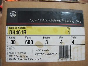 Ge Dh461r 30 Amp 600 Volt 4 Wire Bus Plug New In Box