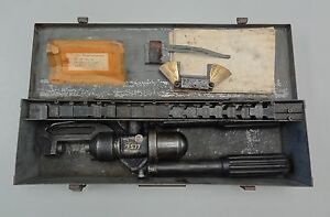 Kearney Compression Crimping Tool Press 2577 With Dies And Metal Case