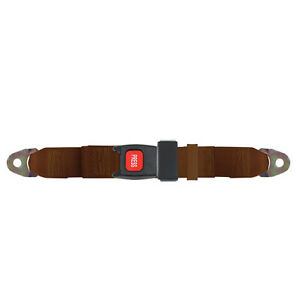 Replacement 2 Point Lap Seat Belt Push Button Release 74 Inch Brown
