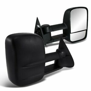 Power Heat Towing Mirror Pair For 99 00 01 02 Silverado Sierra 1500 2500 Hd 3500