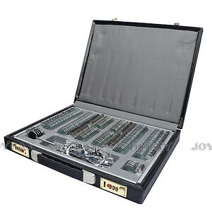 158 Pcs Optical Trial Lens Set Metal Rim Optometry Case Pu Leather Trial Frame