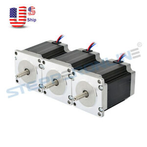 Us Free Ship 3pcs Nema 23 Stepper Motor Bipolar 1 9nm 269oz in 2 8a Cnc Router