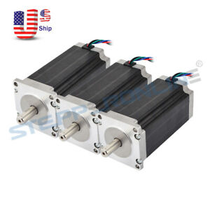 Us Free Ship 3pcs Nema 23 Stepper Motor High Torque 425oz in 4 2a Cnc Router Kit