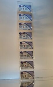 Clear Acrylic Vertical 8 pocket Wall mount Business Card Display Holder