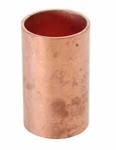 1 Coupling No Stop C X C Sweat Ends bag Of 25 Copper Pipe Fitting