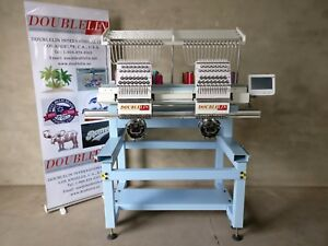 Commercial Embroidery Machine 2 Heads Compact new new Style both Head Full Size