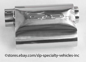 Slp Polished Stainless Steel 3 In out Powerflo Muffler Brand New