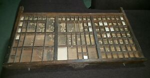 Shadow Boxes Vintage Printers Type Case Hamilton Wooden Type Tray Drawers