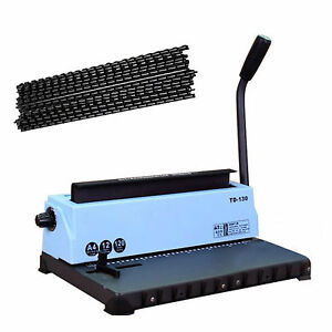 34 hole Steel Metal Spiral Coil Punching Binding Machine Comb Punch Binder Paper