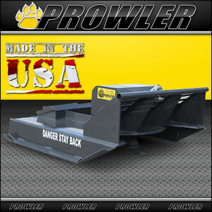 42 Inch Brush Mower For Mini Skid Steer Loaders Extreme Duty 10 To 15 Gpm