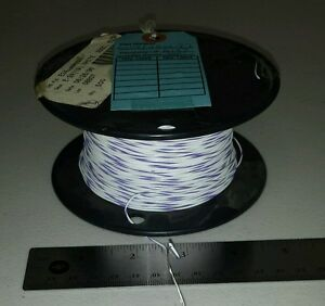 500 Ft Spool Ims M16878 4bee97 24awg White purple Cable Wire 19 36 Spc 600v