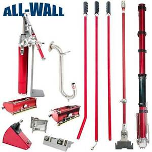 Level5 Drywall Taping And Finishing Set W taper 7 10 Boxes Angle Tools Pump