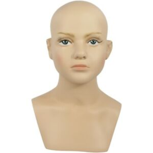 Mn 518 Child Kid Boy Girl Mannequin Head Form With Realistic Face And Bust