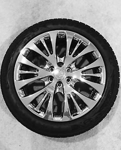4 22 Cadillac Rims With 285 45r22 Goodyear Fortera Sl Edition Tires