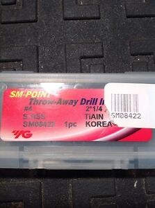 Yg Series 4 2 1 4 Sm Tialn Sup Spade Drill Insert Sm08422