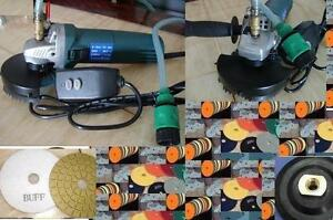 Variable Speed Wet Polisher Grinder Polishing 28 Pad Granite Glass Marble Gloss