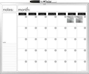 The Board Dudes 16x20 inches Aluminum Framed Magnetic Dry erase Calendar With A