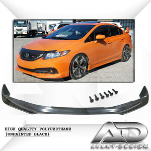 2013 2015 For Honda Civic Dx Lx Ex Se Si 4dr Modulo style Front Spoiler Lip Pu