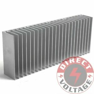 4pcs 60x150x25mm Silver Aluminum Heat Sink For Led And Power Ic Transistor