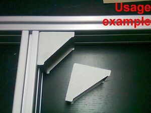 Aluminum T slot 4080 8080 Profile 90 Deg Corner Bracket 80x80 8mm 4 set