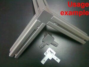 Aluminum T slot Profile 3 way 90 Deg Inside Corner Bracket 40x40 8mm 4 set