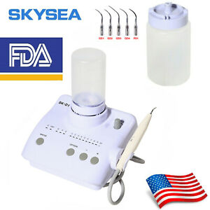 Dental Ultrasonic Piezo Scaler F Ems Woodpecker Handpiece 5 Tips Water Bottles
