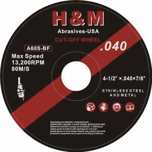 100 Industrial 4 5 x 04 x7 8 Cut off Wheel Stainless Steel Metal Cutting Disc