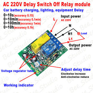 Ac 220v 230v Adjustable Time Delay Turn Off Delay Timing Timer Time Relay Switch