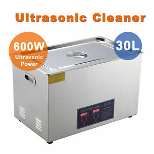 New Stainless Steel 30l Liter Industry Heated Ultrasonic Cleaner Heater W timer