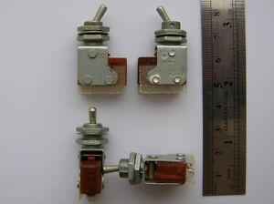 Mt1 Ex ussr Military Mini Toggle Switch Spdt On on Qty 4