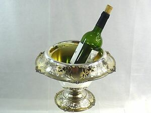 Magnificent Antique American Sterling Silver Wine Cooler Reed Barton Barware