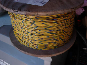 2500 Feet New Machine Tool Wire 16 Stranded Yellow With Blue Stripe